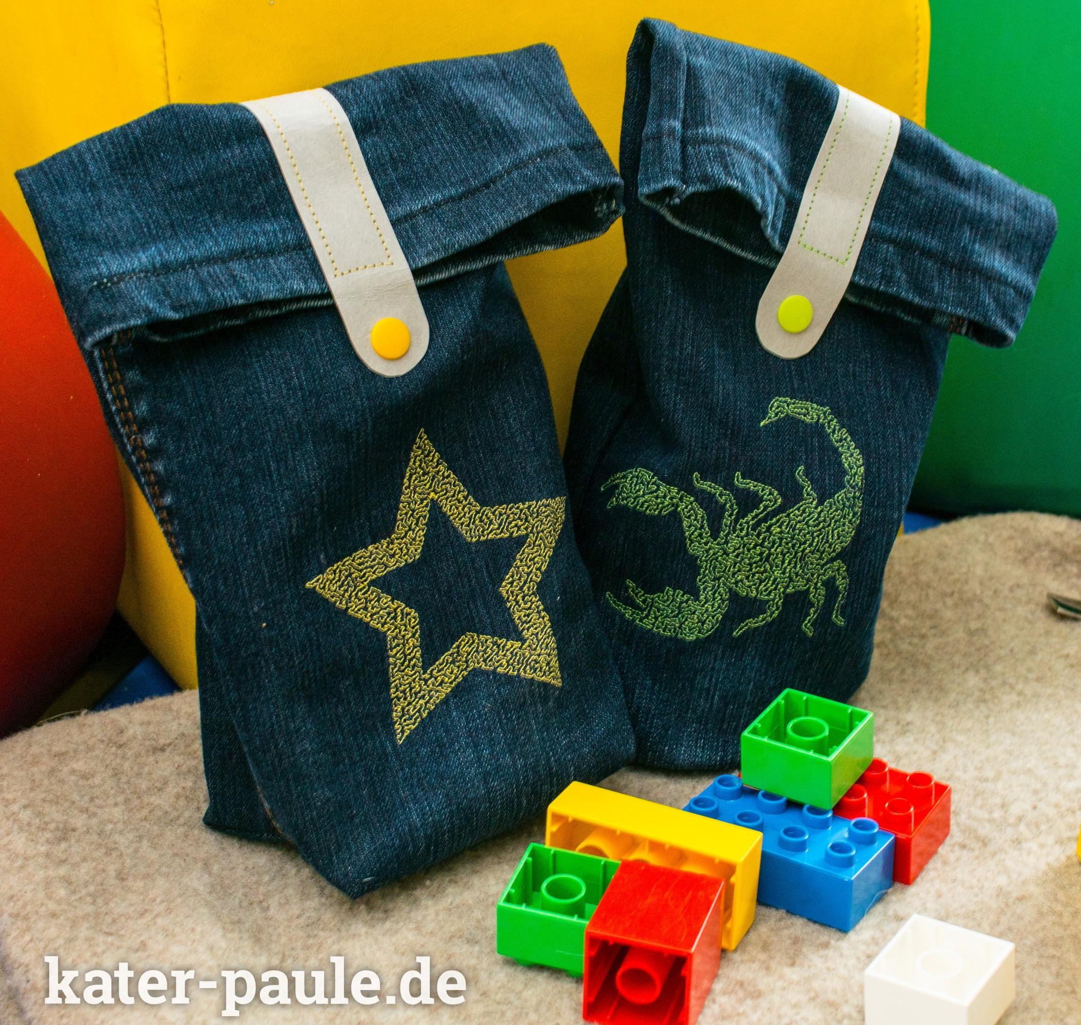 Tutorial Jeanstasche / Upcycling / DIY / Nähgedöns / Kater Paule