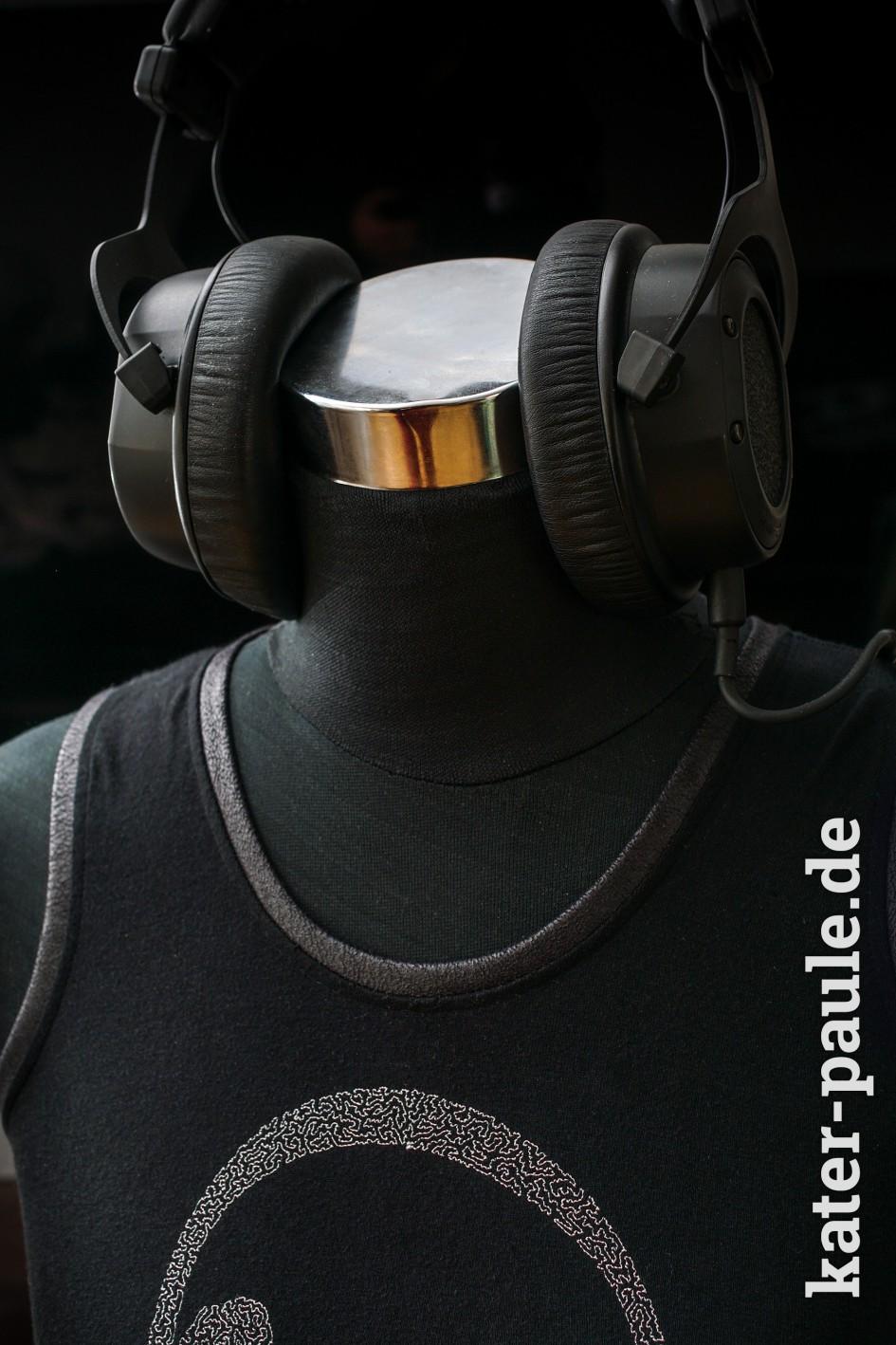 Neonwild Kopfhörer Tanktop - Lederjersey