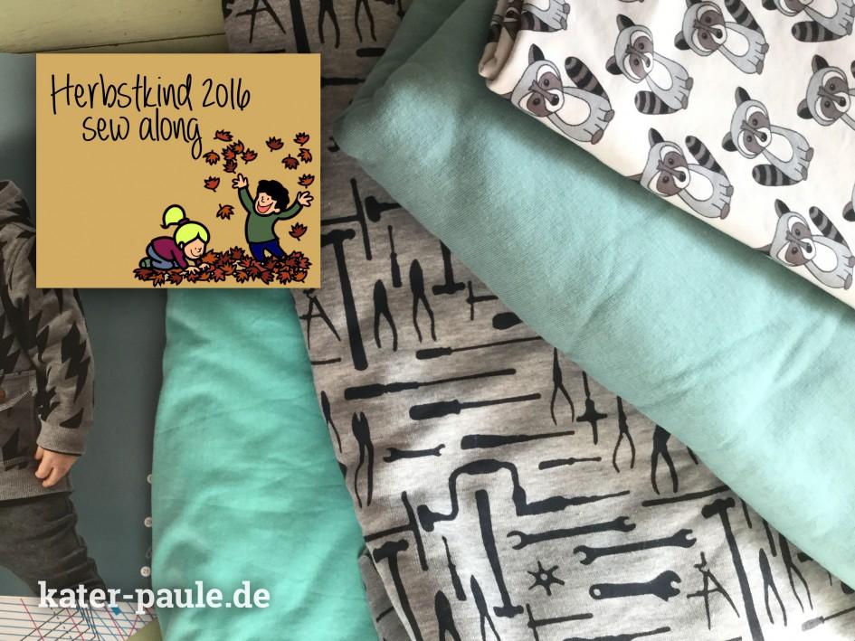 Herbstkind Sew Along 2016 / Übergangsjacke / Sweat / Ottobe Lightning 4/2016 / Waschbären / Tools