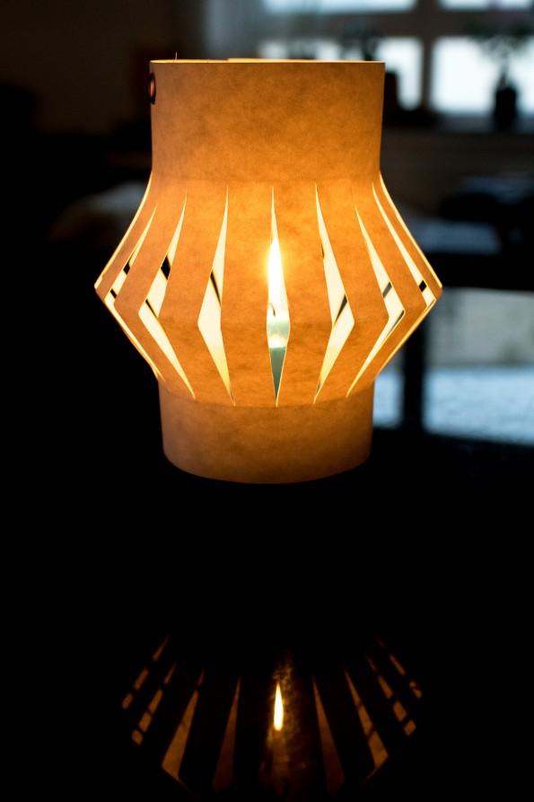Laterne Windlicht aus SnapPap - schnell gebastelt