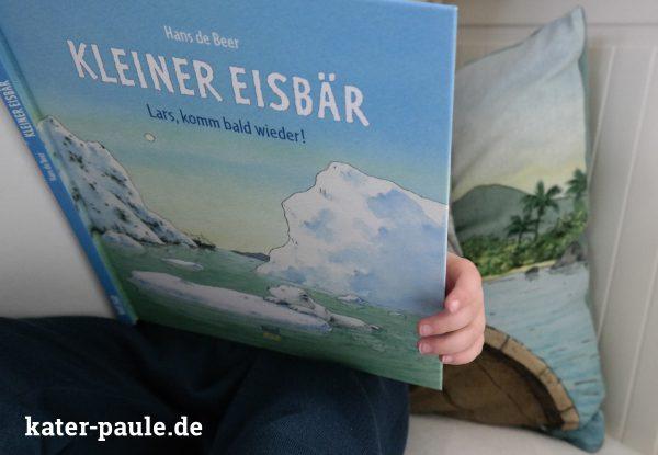 Lars / Eisbär / Kuschelkissen / Jersey / Sweat / Panel / Bilderbuch Stoff / Kater Paule / Nähgedöns