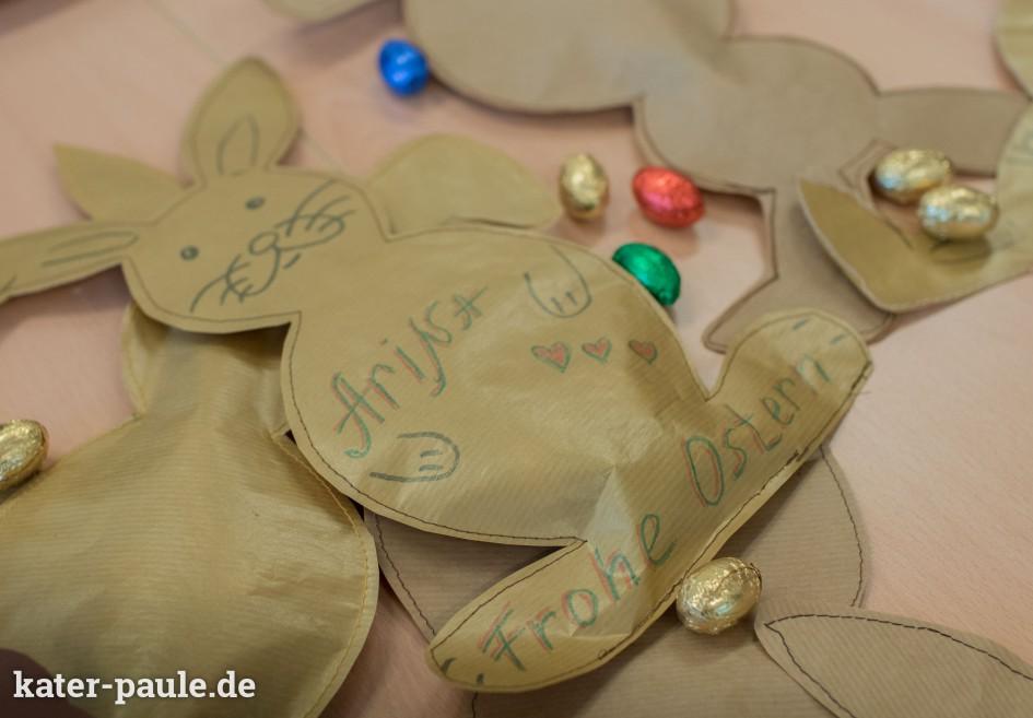 Ostern Nähen Packpapier Hasen Kinder DIY