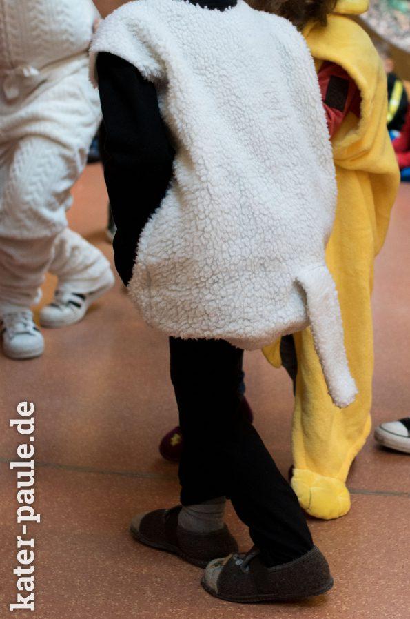 Shaun das Schaf Kostüm Kinder Fasching Fastnacht Nähen DIY